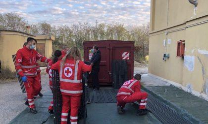 Croce Rossa, montata una tenda per affrontare l'emergenza-FOTO