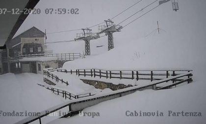 Ecco il Mucrone sommerso dalla neve