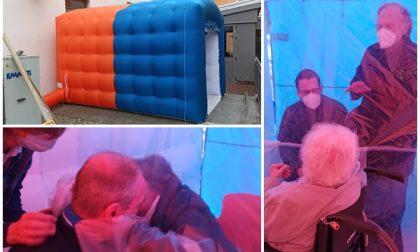 Camera degli abbracci alla casa di riposo di Occhieppo