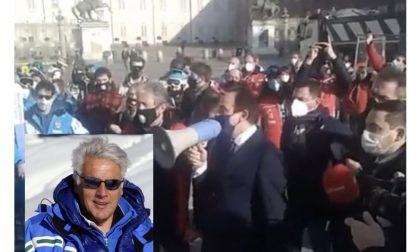 Orleoni in prima linea nella protesta dei maestri di sci a Torino