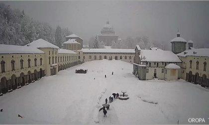 Oropa, quasi un metro di neve