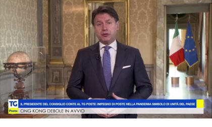 Videomessaggio di Conte ai dipendenti di Poste Italiane per il loro impegno