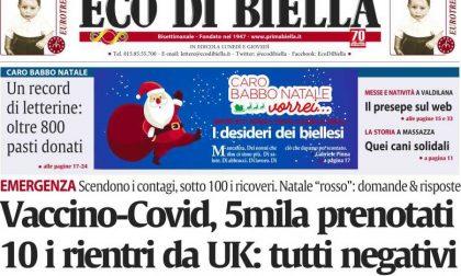 Le anticipazione di Eco di Biella in edicola con 800 letterine a Babbo Natale