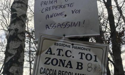 Cartelli contro i cacciatori nei boschi della Serra