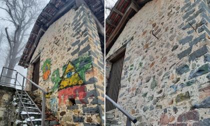 """Sconosciuto ripulisce Cascina Caruccia dai graffiti: """"Lo stiamo cercando"""""""