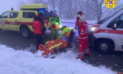 Scialpinista infortunata al Monticchio: recuperata dal Soccorso alpino, sta bene