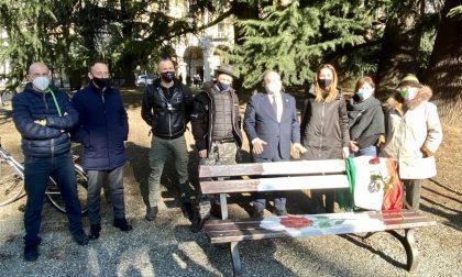 Agli Zumaglini panchina in memoria delle vittime delle foibe