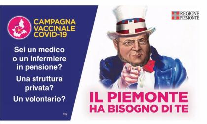 """Piemonte, per campagna vaccinale Cavour come Zio Sam recluta """"truppe"""""""