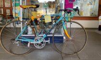 L'amata bicicletta di Marco Pantani all'Informagiovani di Biella