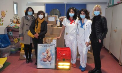 Solidarietà, ecco i doni di Abio all'ospedale di Biella