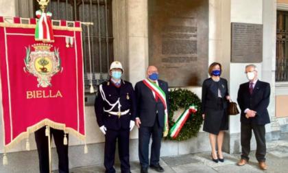 Liberazione a Biella, un'altra commemorazione senza pubblico questa mattina