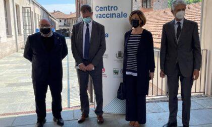 Ecco le foto del nuovo centro vaccinale inaugurato al Lanificio Maurizio Sella