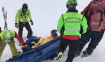 Scialpinista infortunato, il maltempo costringe i soccorsi a partire da terra