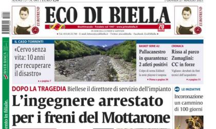 Oggi Eco di Biella in edicola - Tutte le notizie esclusive