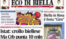 Eco di Biella oggi in edicola, ecco tutte le esclusive