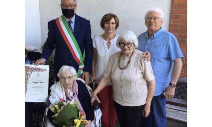 Gli auguri del sindaco a nonna Rina