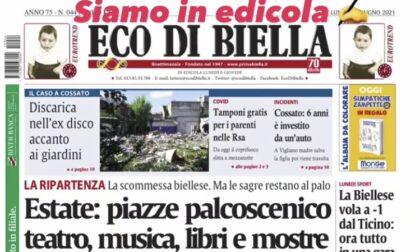 Ecco tutte le esclusive di Eco di Biella in edicola oggi