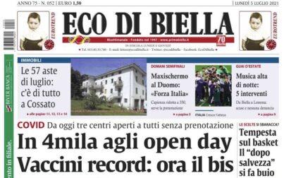 Eco di Biella in edicola con tante notizia esclusive