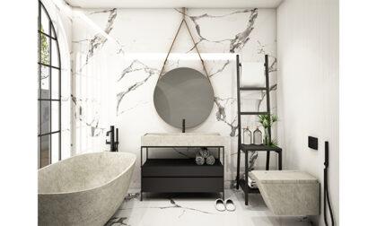 Arredare il bagno con polvere di marmo: caratteristiche e vantaggi