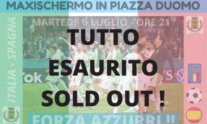 Maxi schermo in piazza Duomo, posti già esauriti