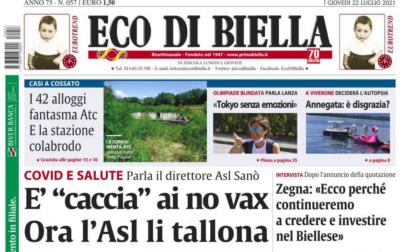Esclusive e ultime notizie su Eco di Biella in edicola questa mattina