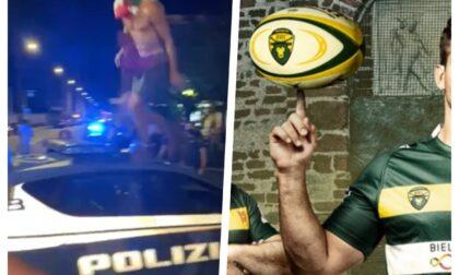 """La passeggiata sulla volante della Polizia. Le scuse del ragazzo, il """"disappunto"""" del Biella Rugby"""