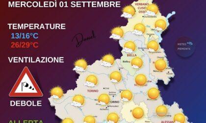 Meteo, ecco le previsioni di oggi, mercoledì 1 settembre