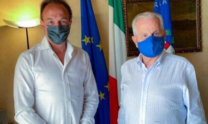 Visita a sorpresa del presidente del Piemonte Cirio al sindaco di Imperia Scajola