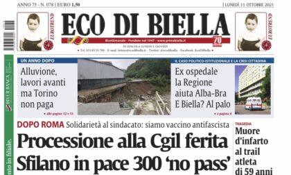 Ecco tutte le notizie esclusive su Eco di Biella in edicola oggi