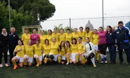 Donne del Vaticano e dell'Asl di Biella si sfidano a calcio